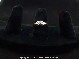 Gold and Diamond Twist Ring