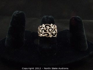 Gold and Diamond Free Flow Ring