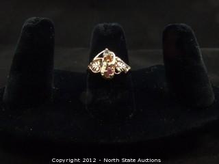 Black Hills Gold Multi Stoned Ring