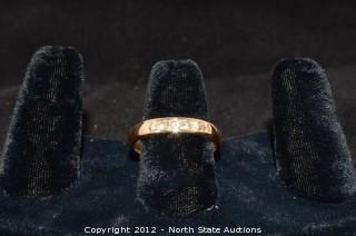 14k Gold Band w/ Diamonds Channel Set