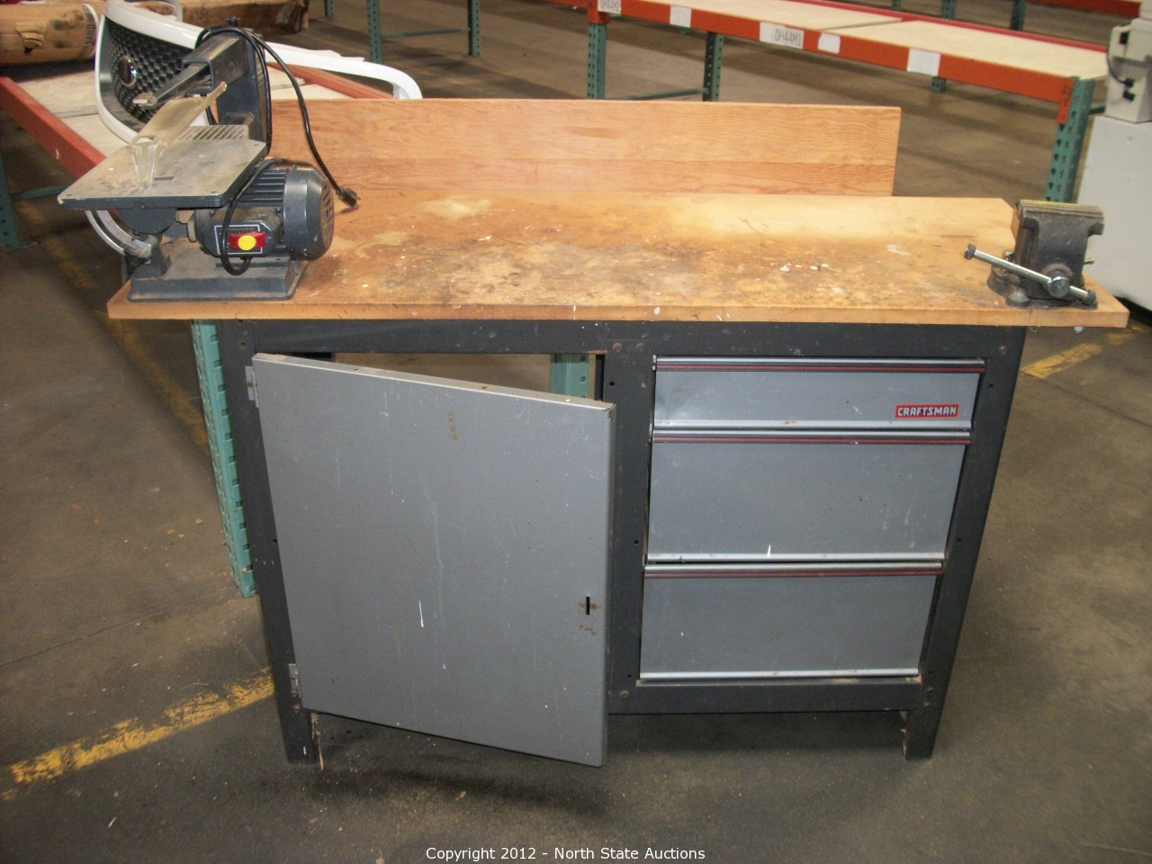 North State Auctions Auction Mid Summer Auction Madness Item Craftsman Work Bench Vice And