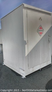 Hazardous Material Storage Container / Building. Single Door.