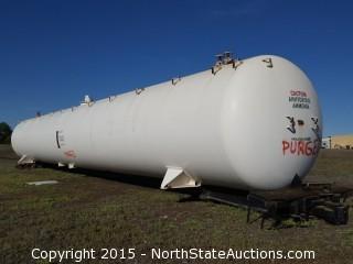 Pressurized Ammonia/Propane Rail Car Storage Tank