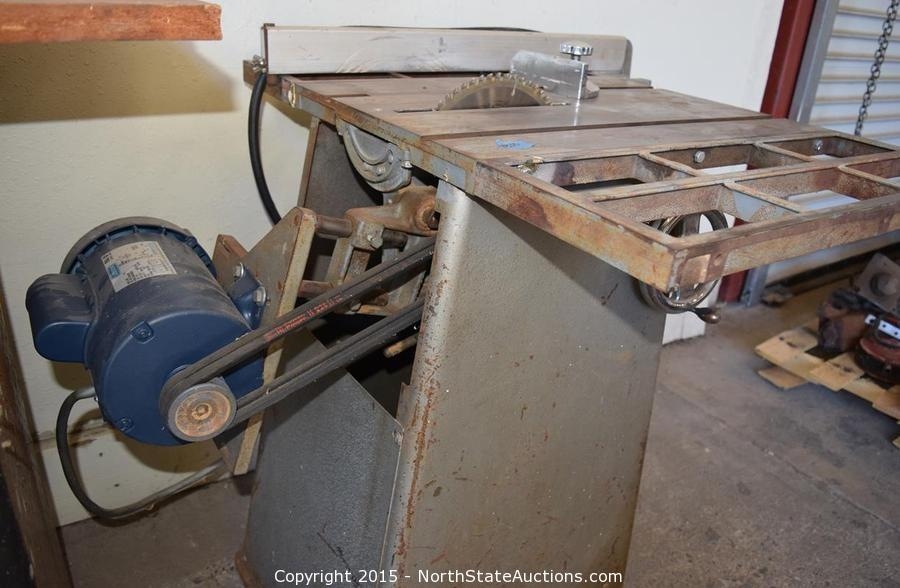 North State Auctions Auction Hot August Deals Item Leeson Table Saw