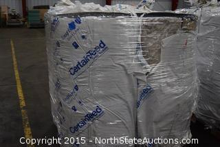 4 Rolls of CertainTeed Duct Liner Insulation