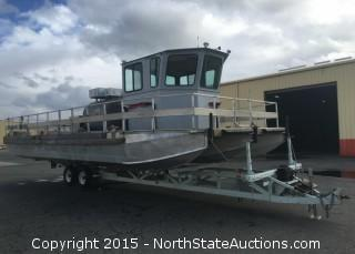 Tri Hull Aluminum  Pumper Boat/Workboat