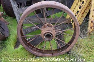 Spoked Wheel Yard Art