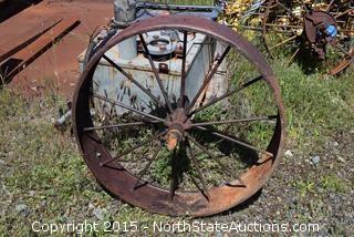 Yard Art Metal Wheel
