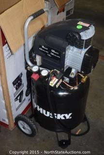 Husky 10-Gallon Oil-Lubricated Portable Air Compressor