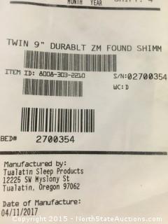 """1 Box Spring Twin 9"""""""