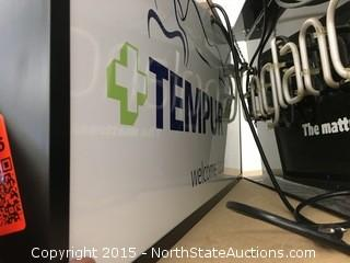 2 Tempur-Pedic light up signs