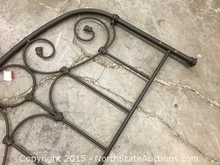 Brown Metal Decorative Headboard