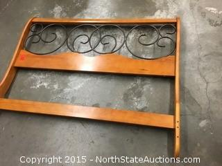 Decorative Wood and Metal Headboard