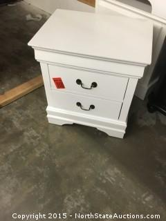 White Two Drawer Night Stand
