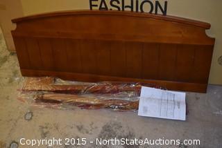 Fashion Group Ribbed Wood Headboard