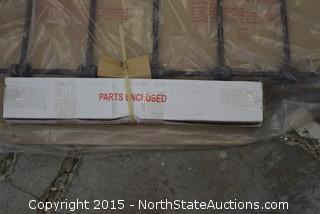 Metal Bedstead Headboard and Footboard