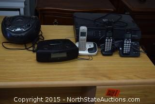Office Desk, Printer, Radio, Phone Set