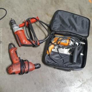 Ridgid, Black & Decker and Magnum Power Tools