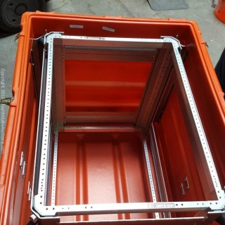 """Shock Mounted Water Proof Case for 19"""" Rack Mount Instruments"""