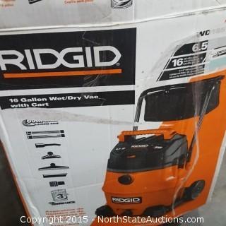 Ridgid 16-Gallon Wet/Dry Vac with Cart