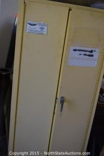 Parrs Flammable Cabinet with Self-Closing Doors, Piping and Truck Exhaust