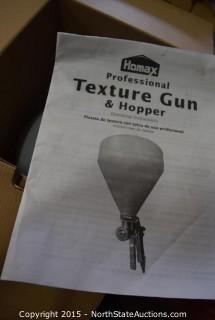 Homax Texture Gun and Hopper, Husky Siphon Feed General Purpose Spray Gun