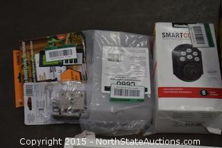 Lot of Knobs, Handle Sets, Garage Door Remotes, Remote Cooking Thermometer, Smart code Touchpad Electronic Entry