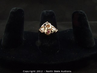 Black Hills Gold Multi Stoned Ring