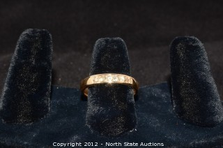 14k Gold Band w/ Diamonds Channel Set