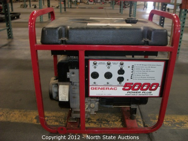 north state auctions auction mid summer auction madness item rh northstateauctions com generac 5000 watt generator parts diagram