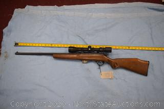 Glenfield Model .20 Rifle With Scope