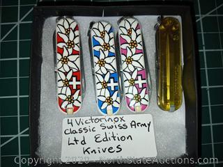 4 Victorinox Classic Swiss Army Knives