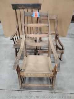 Lot Of Antique/Vintage Rocking Chairs
