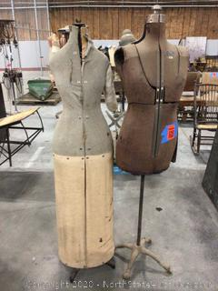 Lot of Antique Collapsible Dress Forms