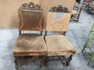 Lot Of Antique Chairs