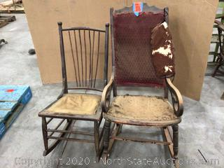 Lot of Antique Rocking Chairs