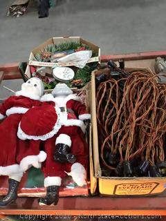 Lot Of Antique Christmas Decorations