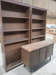 Bookshelves and Credenza