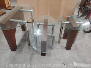 Lot Of Tables w/Glass Tops