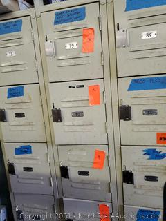 Lockers With Contents (73-90) (A)
