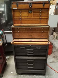 Vintage H.Gerstner & Sons Tool Box and Chest (A)