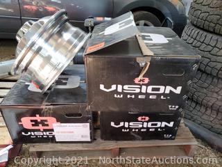 Set Of Vision Wheel Hauler Dually Rims