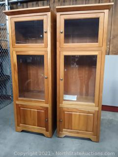 Lot of Wood Cabinets