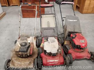 Lot of Lawn Mowers