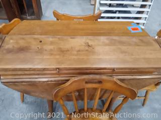 Lot of Wood Table and Chairs