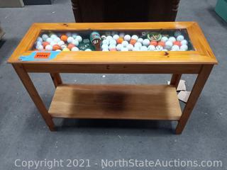 Shadow Box Table w/Golf Memorabilia
