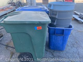 Lot of Trash Cans