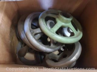 Lot of Lathe/Mill Hand Wheels