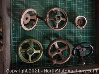 Lot of Lathe Handwheels