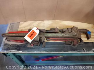 Lot Of Pipe Wrenches